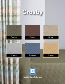 Crosby bedding, bed spread, hospital cubicle curtains, cubicle curtains, healthcare, hospice, health care facility, antimicrobial