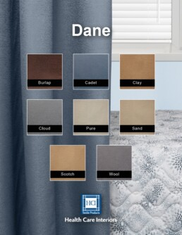 Dane hospital cubicle curtains, cubicle curtains, healthcare, hospice, health care facility, antimicrobial